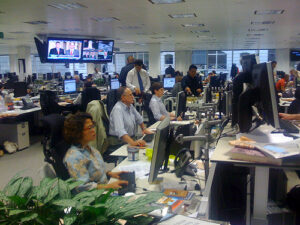 Newsroom Financial Times (Quelle: Adam Tinworth)