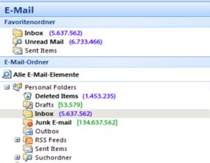 Übervolle E-Mailbox